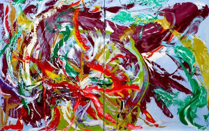 De kleur van aubergine schilderij van kuhlmann kunst twan kuhlmann - Kleur schilderij slaapkamer volwassenen ...