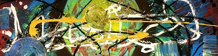 Abstract 3 luik geschilderd door Enjoy painting