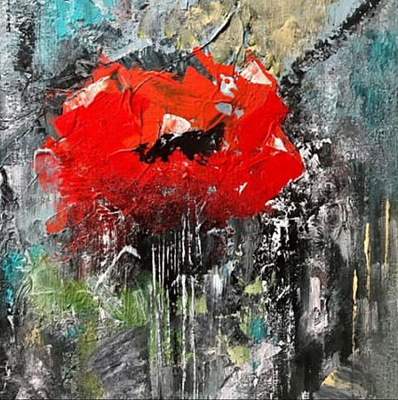 Flower poppy geschilderd door Diney-Art