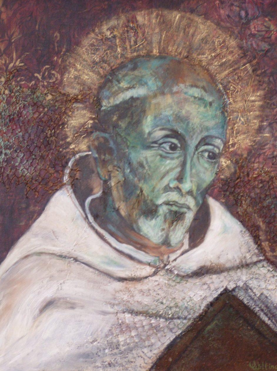 Bernardus Van Clairvaux Schilderij Van Vera Wilting