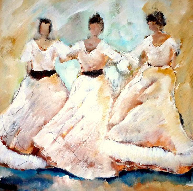 Fabulous Dansende vrouwen, schilderij van Loes Loe-sei Beks @TF26